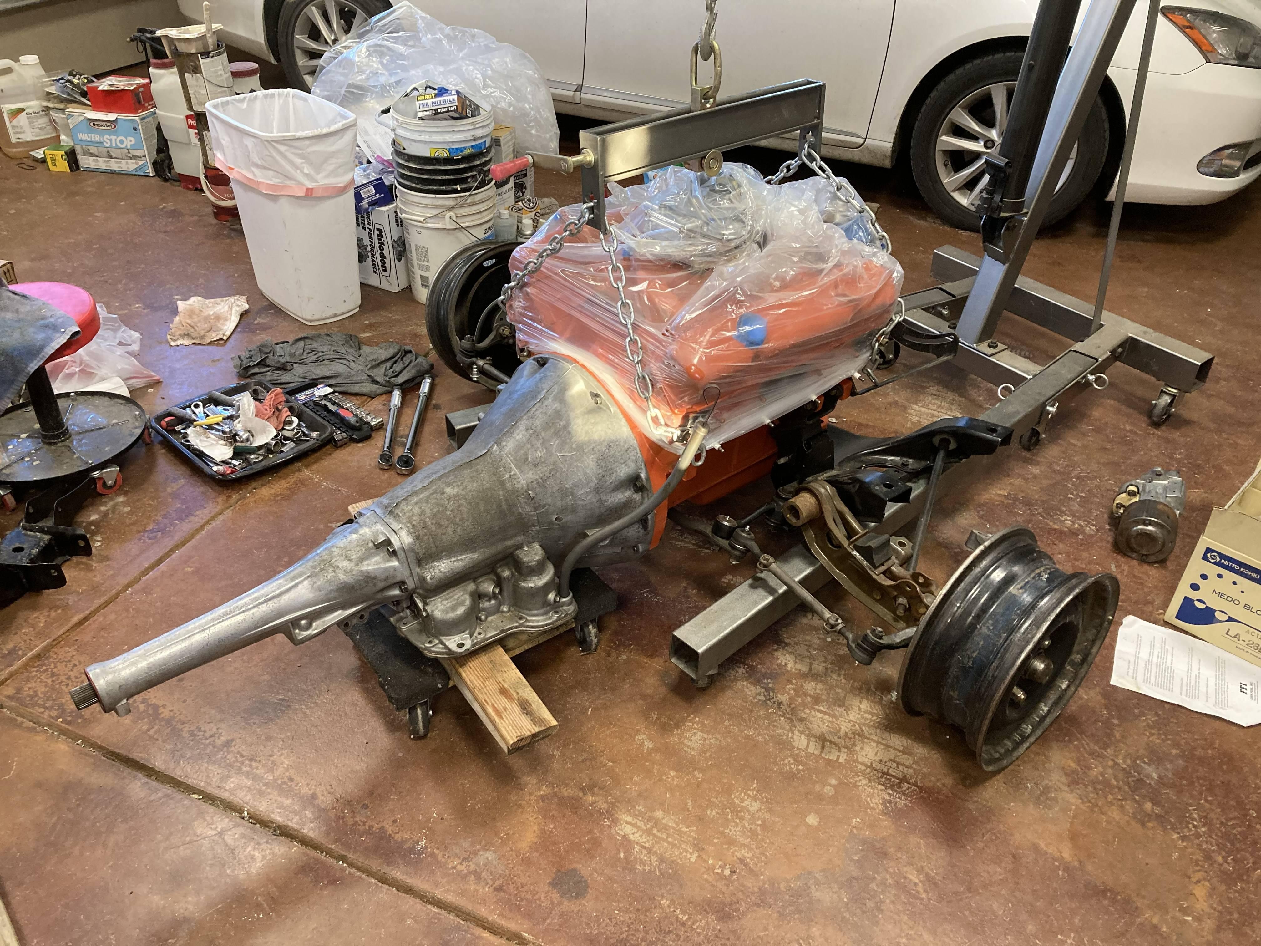 1 engine and transmission installed on K-frame.JPG