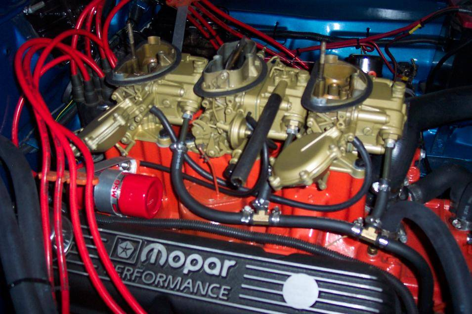 70 340 Six Pack Setup For E Bodies Only Mopar Forum