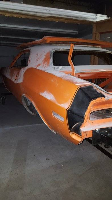 1970 Challenger R  T Tail Stripes