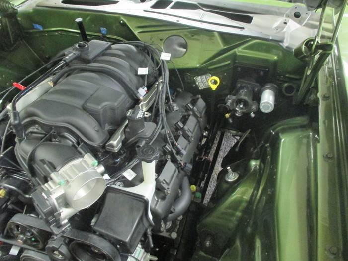 hemi dipstick oil engine headers bracket