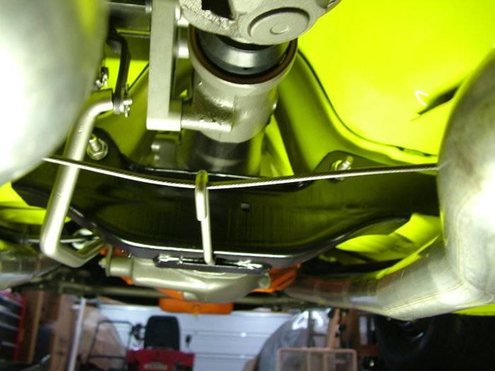 Exhaust hitting E-brake cable | For E Bodies Only Mopar Forum