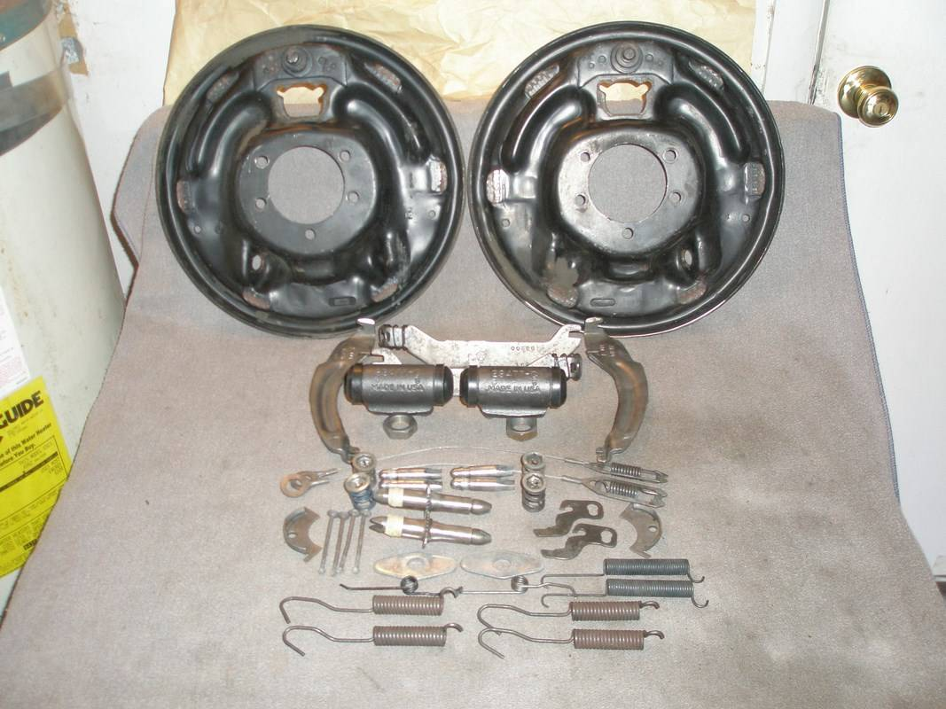 SOLD - BRAKE BACKING Plates 11 x 2.5 Inch. Levers & Struts ...