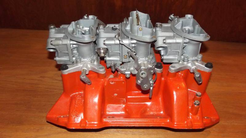 440 Quot Six Pack Intake And Carbs For E Bodies Only Mopar Forum