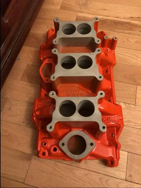 Sold  A 340 Six Pack Original Intake