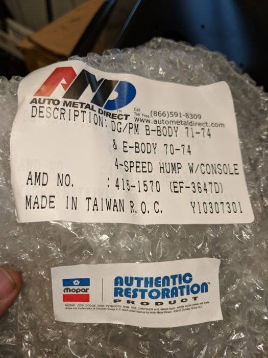 SOLD - 4 speed hump | For E Bodies Only Mopar Forum