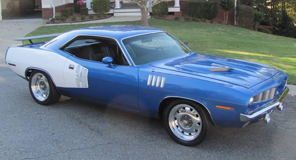2016 Dodge Barracuda >> 1971 Cuda 340, 4 sp, blk int, white billboards. | For E