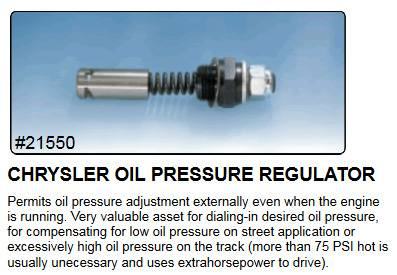 Milodon Chrysler Oil Oil Pressure Regulator.jpg