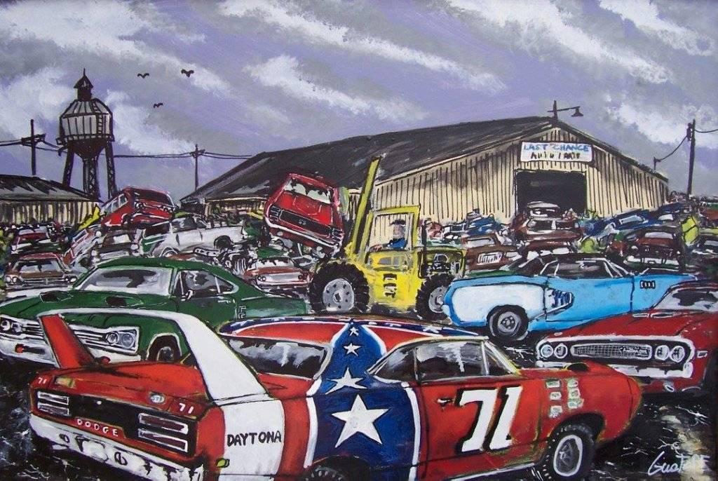 Junk Cars Detroit >> Mopar Art | For E Bodies Only Mopar Forum