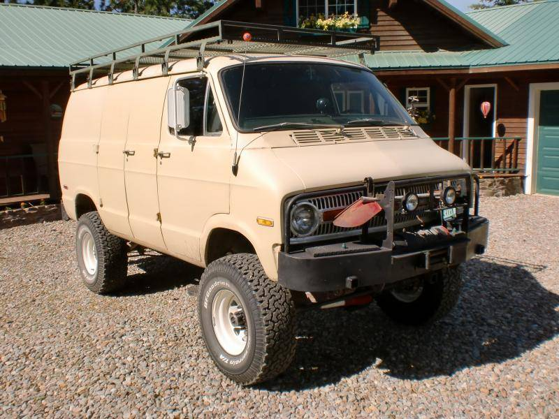 sold 1973 dodge 4x4 van for e bodies only mopar forum. Black Bedroom Furniture Sets. Home Design Ideas