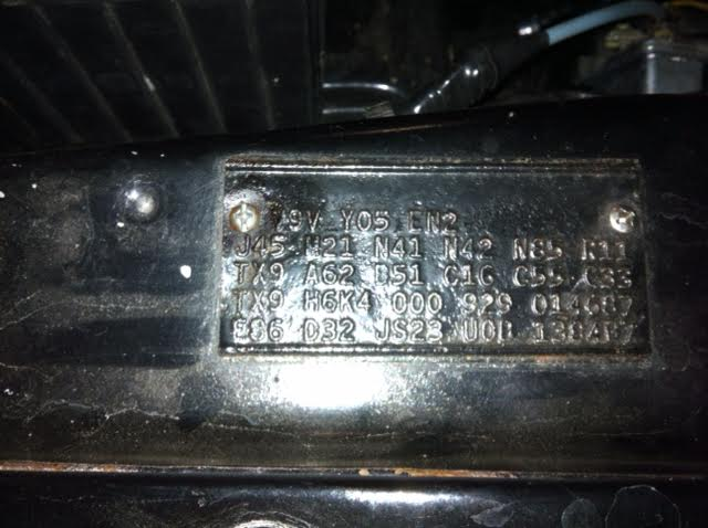 Fender Tag Id For E Bodies Only Mopar Forum